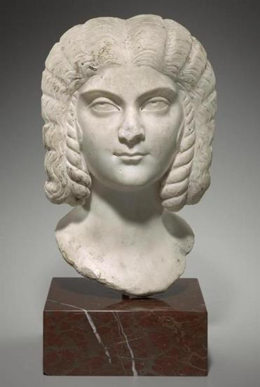 Marble bust of Julia Domna (203-217 CE).